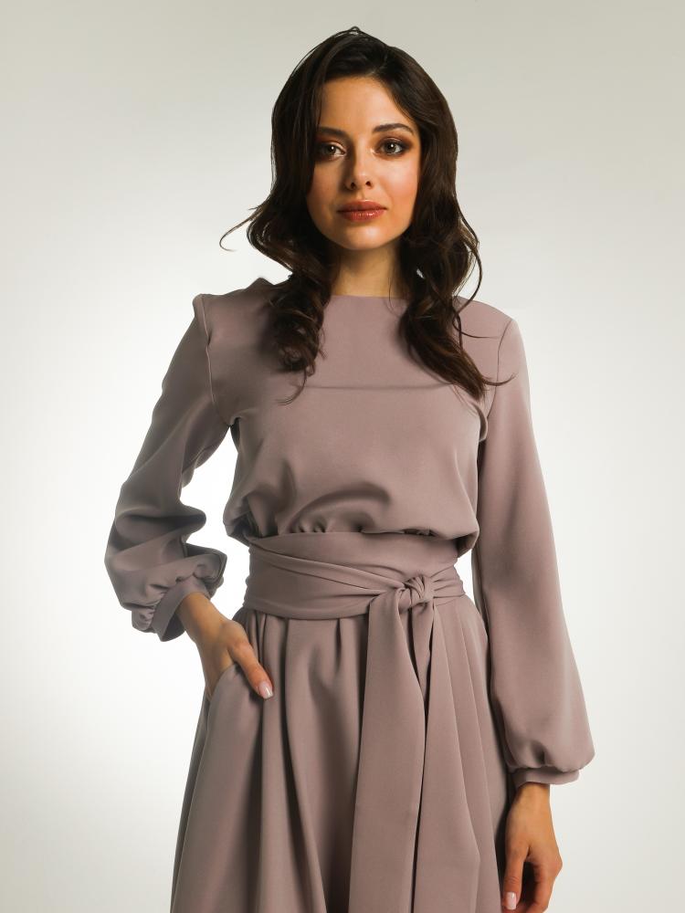 Платье С Рукавами Дешево