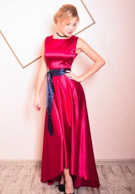 dcd783fb92f Купить платье с асимметричной юбкой и кружевом jdn8 мятное в ...