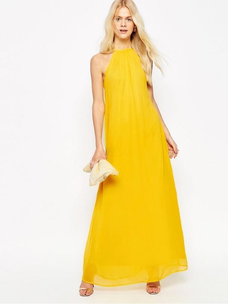 923b593341c5 Купить греческое платье длинное без рукавов 842028 жёлтое в интернет ...